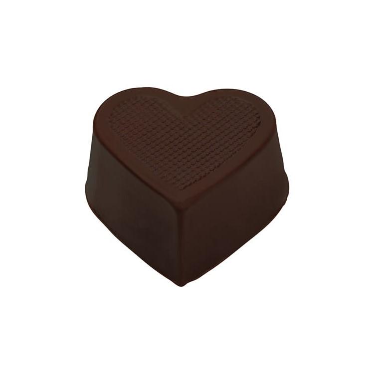 Heart hollow cups dark chocolate box of 648 | chocolate truffle shells
