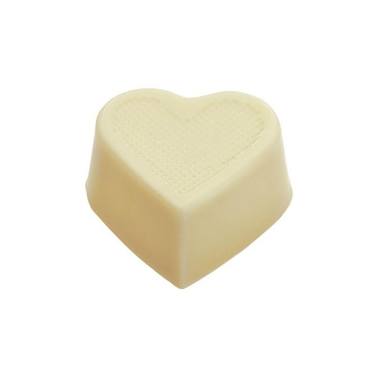Heart hollow cups white chocolate box of 648 | chocolate truffle shells