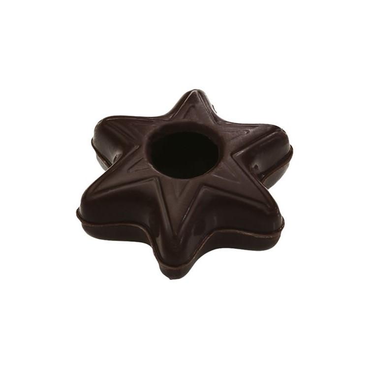 Star shape hollow dark chocolate shells box of 378   chocolate truffle shells