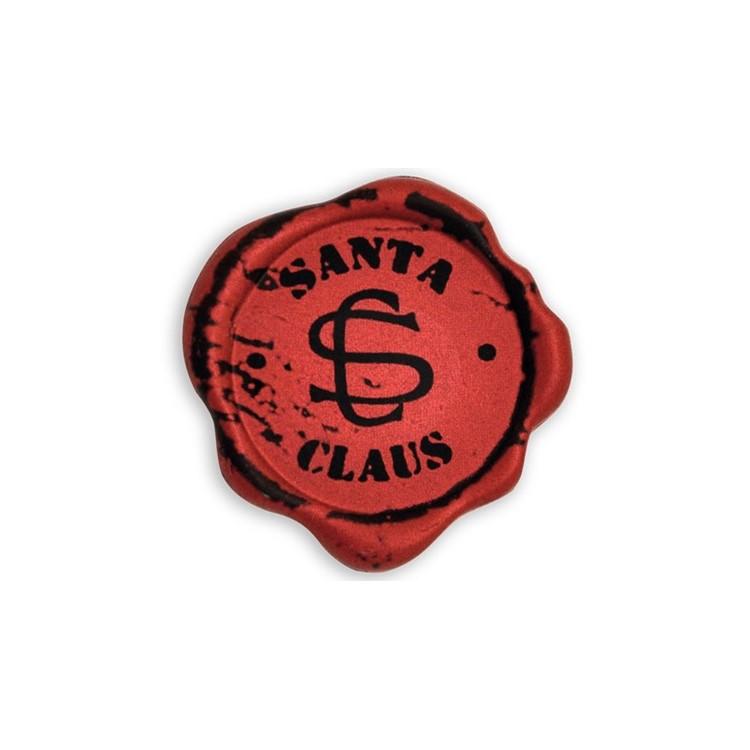 Dark chocolate Santa Claus seal plaques - perfect for decorating bars