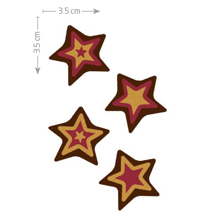 Dark chocolate plaquettes for decorating chocolates