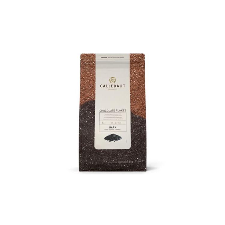 Dark chocolate splitters add chocolatey texture. Roll truffles in them