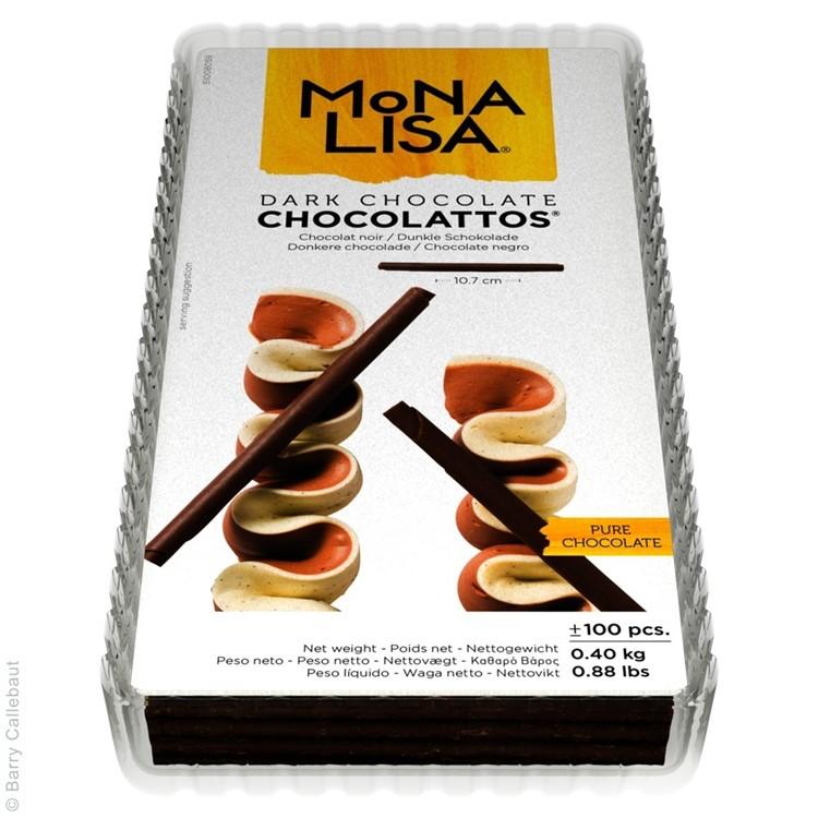 Chocolattos are tightly rolled pencils of dark chocolate