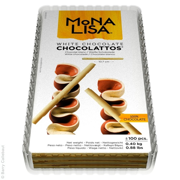 Chocolattos are tightly rolled pencils of white chocolate