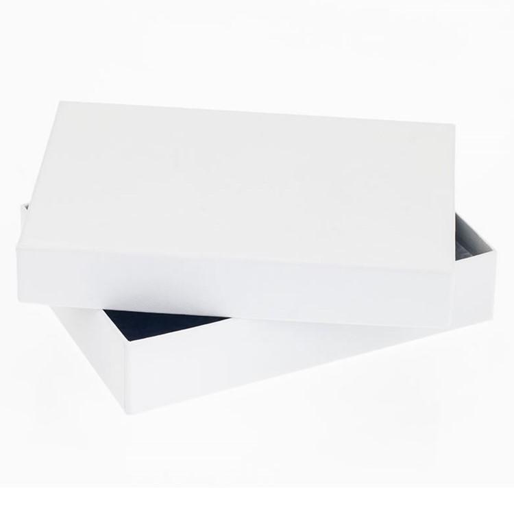 12 Choc Rectangular box & Lid; WhiteTextured Pack of 20