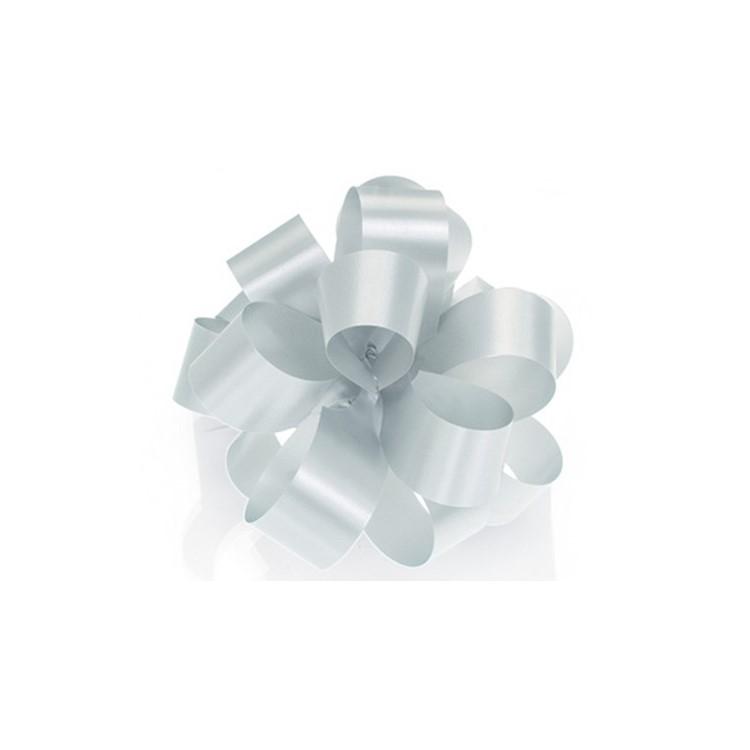 PullBow Ribbon; Shiny Silver 40m roll