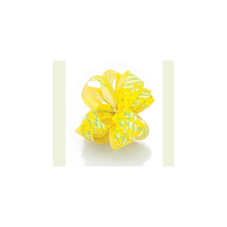 PullBow Ribbon; Yellow Mimosa Flowers Kiria 40m roll