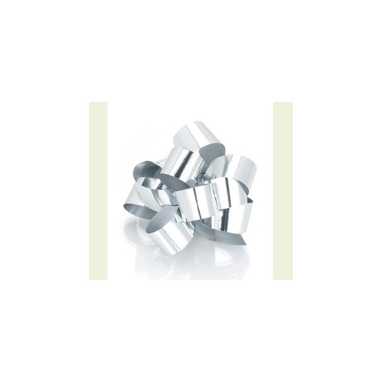 PullBow Ribbon; Metallic Silver 40m roll