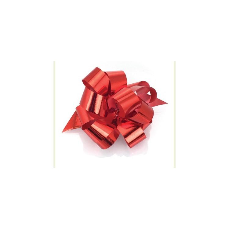 PullBow Ribbon; Metallic red 40m roll