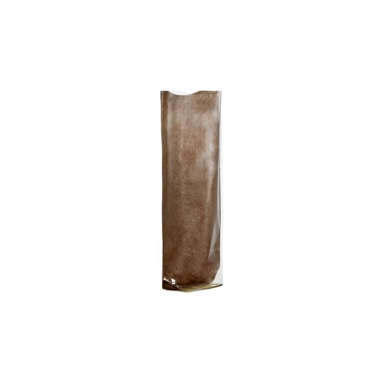Polyprop Satchel; chocolate Kraft Paper Back box of 100