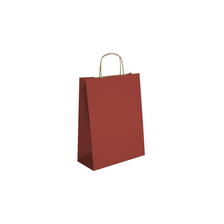 Red kraft paper carrier bag with handles - ideal for almost any kind of gift and suitable for blocking.